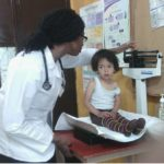 Medical student in the clinic of Jocotenango a town near Antigua Guatemala